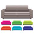 Set of sofas vector