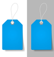 Blue price tags vector
