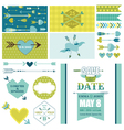 Love heart and arrows party set - for party vector