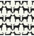 Animal seamless pattern of dog silhouettes vector
