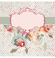 Vintage floral roses card vector