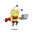 Super bee laptop vector