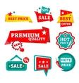 Sale  discount badges vector