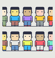 Multi-ethnic characters society vector