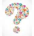 Question mark speech bubble vector
