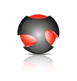 Abstract 3d sphere logos vector