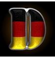 Germany metal figure d vector