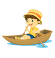 Rowing boy vector