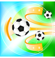 Abstract soccer ball background vector