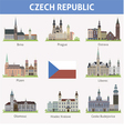Czech symbols of cities vector