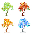 Abstract trees four seasons vector
