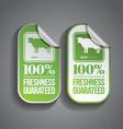 Food sticker beef vector