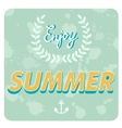 Enjoy summer card vector