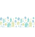 Houses blue green textile texture horizontal vector