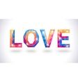 Romantic polygonal love concept card vector