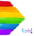 Bright rainbow paint strokes arrow background vector