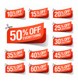Everything is on sale coupons vector