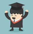 Graduating young man vector