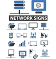 Network signs vector