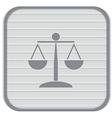 Scales of justice icon vector