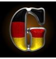 Germany metal figure g vector