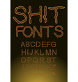 Shit font letters of shit vector