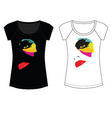 Abstract fashion woman t shirt vector