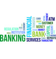Word cloud banking vector