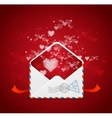 Heart and mail valentines day card vector