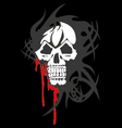 Bloody skull on white background vector