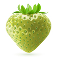Unripe strawberry vector