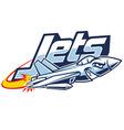 Jet plane mascot vector