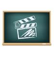 Board cinema clapper board vector