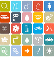 Colorful flat design rounded square icons set vector