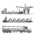 Petroleum extraction logo design template vector