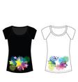 Star sparkle woman t shirt vector
