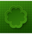 Happy st patrick day poster clover frame vector