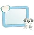 Cartoon dog with frame vector