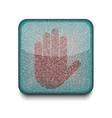 Stop hand icon vector