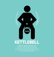 Kettlebell fitness exercising sign vector