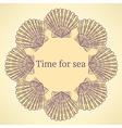 Sketch sea shell in vintage style vector