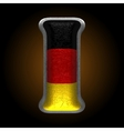 Germany metal figure i vector