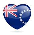 Heart icon of cook islands vector
