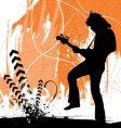 Rock guitarist vector