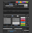 Web design elements black vector