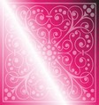 Floral pattern on a pink background vector
