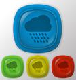 Cloud rain the weather icon vector