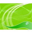 Green technological background vector
