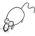 Rat cartoon character for coloring book vector