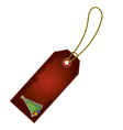 Christmas tree cartoon gift tag vector